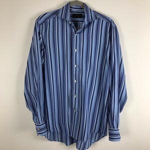 ETRO Milano Men's Multicolored Blue Dress Shirt